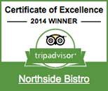 Link to Tripadvisor review page of Northside Bistro Restaurant in St. Thomas USVI
